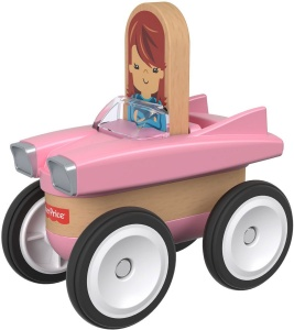 Fisher-Price Wonder Makers car 9 cm pink/white 4-piece
