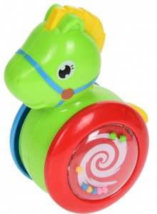 Free and Easy Baby toy rolling horse green 11 cm