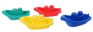 Free and Easy bathboats 4 pieces yellow/blue/red/green/red