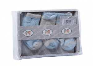 Gamberritos baby socks 0-6 months boys blue 3-piece