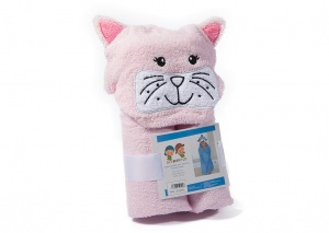 Gamberritos bath towel 60 x 100 cm cat pink