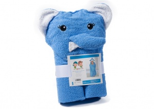 Gamberritos bath towel 60 x 100 cm elephant blue