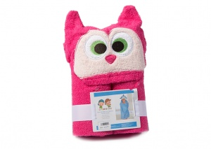Gamberritos bath towel 60 x 100 cm owl red