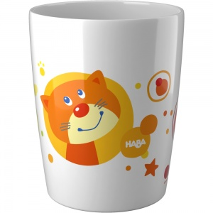 Haba tasse blanc/orange 200 ml