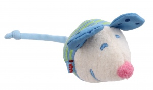Haba mouse cuddly blue 9 cm