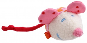 Haba mouse cuddly pink 9 cm