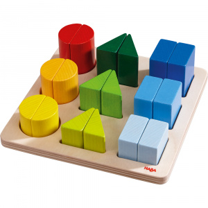 Haba blocs color magic junior 18 x 18 cm bois 19 pièces