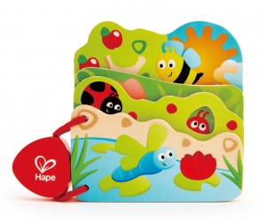 Hape wooden baby book insects 16 x 12,5 cm