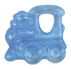 Happy People teething ring train blue 9 cm