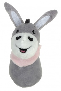 Happy People grab toys donkey grey/pink 13 cm