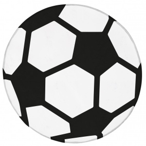 House of Kids football rug 75 cm white/black