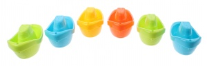 Johntoy bath toy Happy World boats 6 pieces