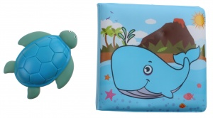 Johntoy Happy world badboekje en schildpad 14 cm