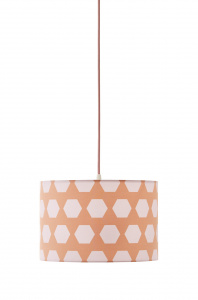 Kid's Concept hanglamp Hexagon junior 30 x 20 cm polyester/staal roze