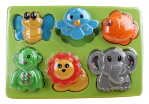 Let's Play activity puzzle animals 17 cm 6-piece