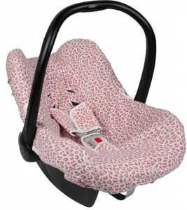 Little Indians car seat cover leopard junior cotton red/white