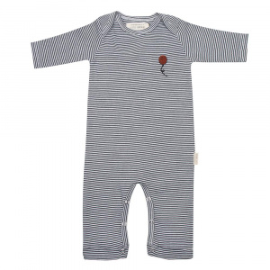 Little Indians jumpsuit Stripes junior katoen zwart/wit