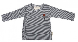 Little Indians longsleeve Stripes junior katoen zwart/wit