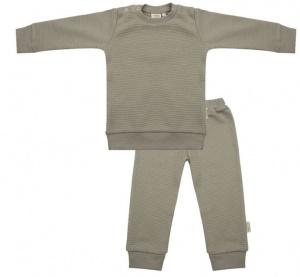 Little Indians pyjama Abbey Stone junior katoen taupe