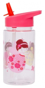 A Little Lovely Company drinking bottle Feetje girls 450 ml pink/transparent