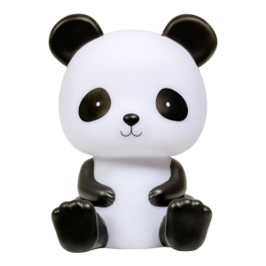 A Little Lovely Company nachtlamp Panda junior 19 cm PVC zwart/wit