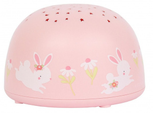 A Little Lovely Company projecteur filles lapin 14 cm ABS rose