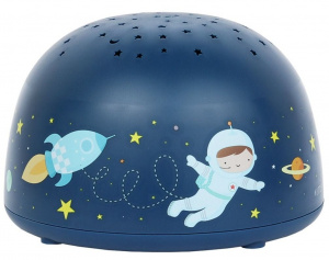 Little Lovely projector Space junior 14 cm ABS donkerblauw