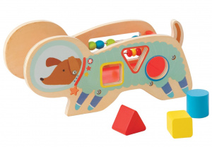 Manhattan Toy vormen sorteerder Space Dog junior 11,5 cm hout