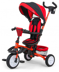 Milly Mally buggy/driewieler Stanley 109 cm polyester rood/zwart