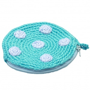 natureZOO pouch round with dots 8 cm blue