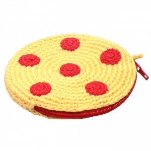 natureZOO pouch round with dots 8 cm yellow/red