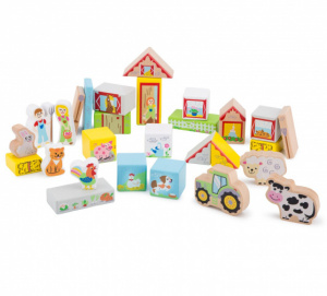 New Classic Toys blocs Educationalde bois junior 100 pièces