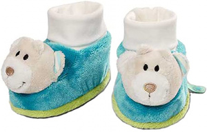 Nici baby shoes Beer junior 0-12 months plush blue/cream