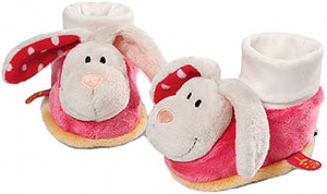 Nici baby shoes Konijn junior 0-12 months plush red/cream