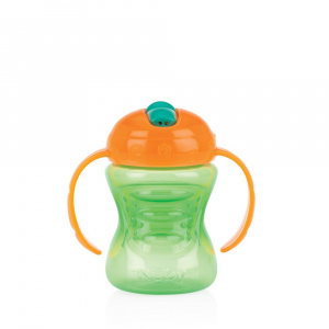 Nuby 2-in-1 cup with hard spout 240ml orange/green