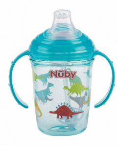 Nuby anti drip cup Tritan 240 ml junior blue