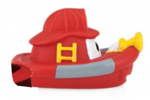 Nuby badspeelgoed Boot junior 12,3 cm rubber rood