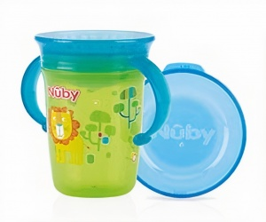 Nuby drinking cup 360° Wonder cup 240 ml green