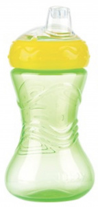 Nuby Easy Grip Antilekbeker 300ml groen 6m+