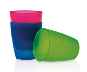 Nuby Open drinking cup set 3 pieces 300 ml 12m+