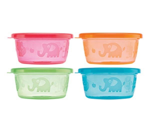 Nuby Snack bowls 4 pieces 240 ml 3m+