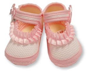 Nursery Time slippers girls 0-3 months pink