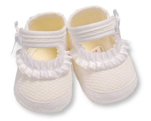 Nursery Time slippers girls 0-3 months white