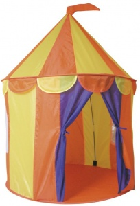 Paradiso Toys play tent circus 95 x 125 cm yellow/orange