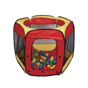 Paradiso Toys play tent with 100 balls 100 x 75 cm red/yellow