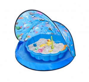 Paradiso Toys play tent with sandpit 120 x 80 cm blue