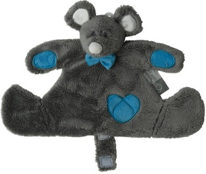 Pericles cuddly blanket mouse Doudou30 x 20 cm grey/blue