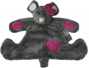 Pericles cuddly blanket mouse Doudou30 x 20 cm grey/pink