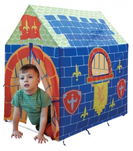 Playfun play tent knight 92 x 68 x 102 cm blue