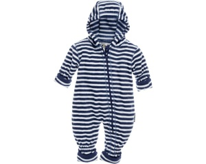 Playshoes babypyjama onesie fleece junior gestreept navy